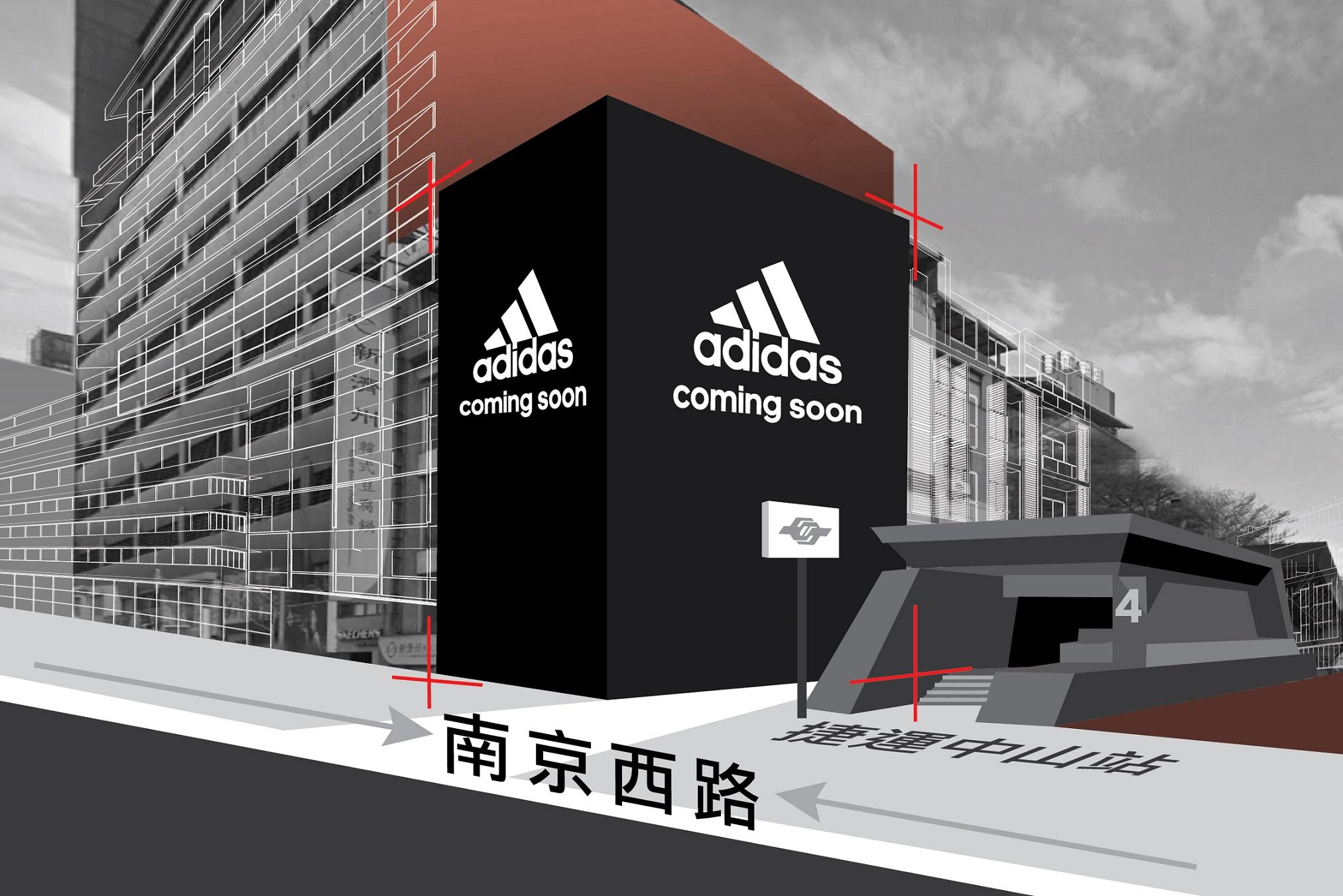 1.外觀以黑色調牆面搭配巨幅adidas Sport Performance Logo打造的南西門市擁有全台最完整UltraBOOST系列鞋款