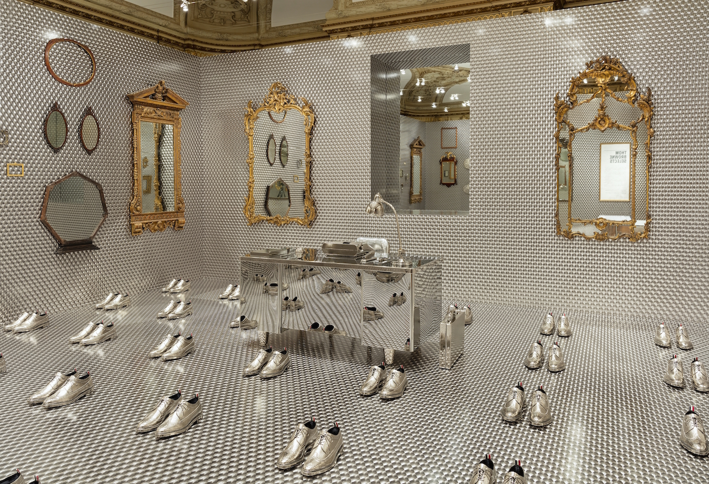 "Installation view of ""Thom Browne Selects."" Photo by Matt Flynn © 2016 Cooper Hewitt, Smithsonian Design Museum"