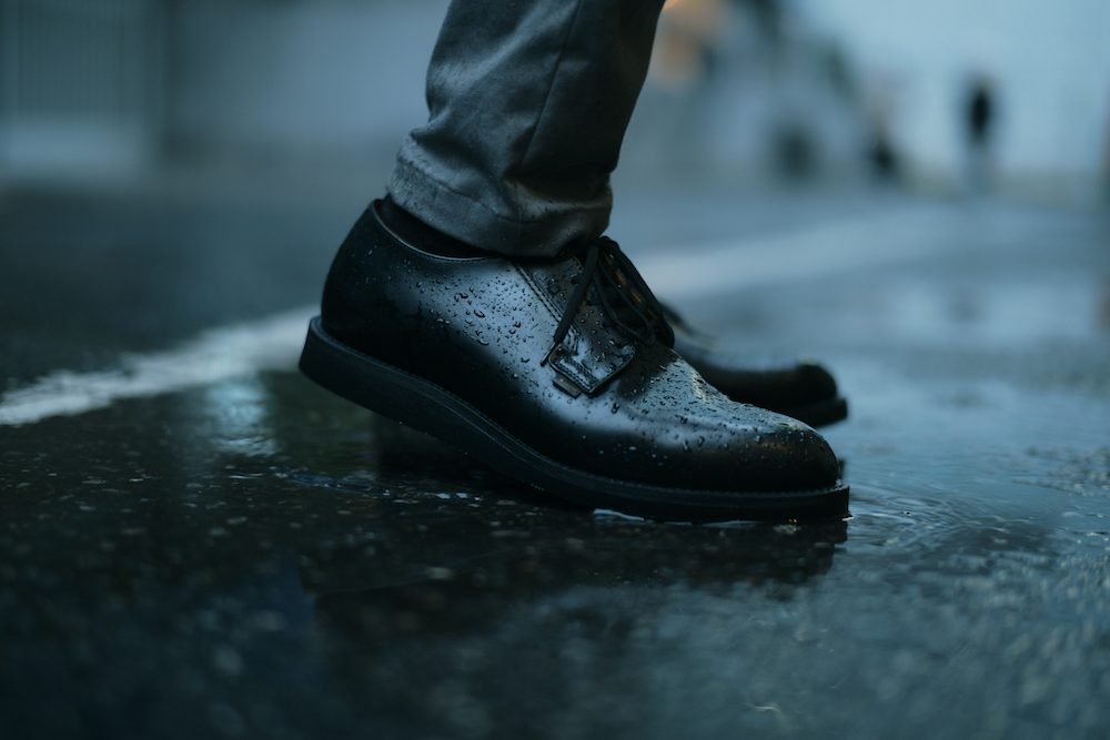 NO. 9183 / POSTMAN OXFORD GORE-TEX LINER BLACK CUSHION CREPE SOLE