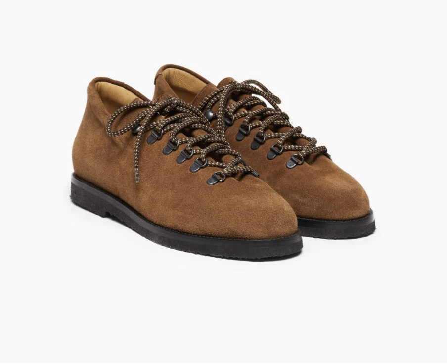 JACQUES SOLOVIERE CHOCOLATE SUEDE LACE-UP SHOES
